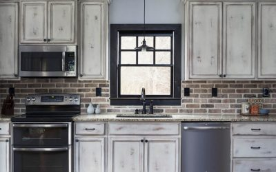 Brick Accents in Kitchens and Baths